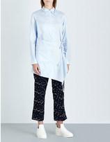 3.1 Phillip Lim Asymmetric cotton-poplin shirt