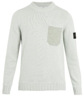Stone Island Patch-pocket Wool-blend Sweater