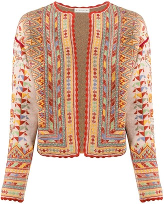Etro Geometric-Pattern Knitted Jacket