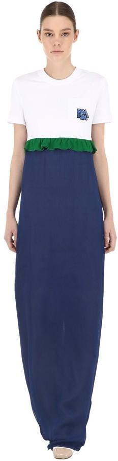 Prada T-Shirt & Silk Chiffon Dress