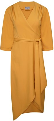 Rita Wrap Dress In Ochre