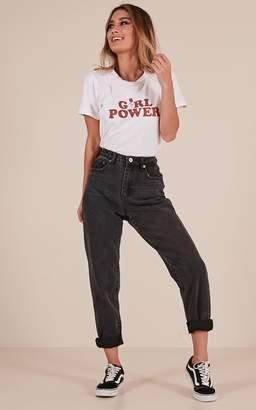 Showpo Alice mum jeans in black - 6 (XS) Mum Jeans