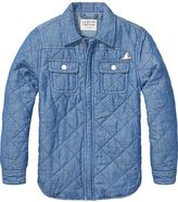 Scotch & Soda Quilted Chambray Jacket