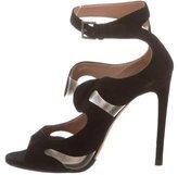 Alaia Suede Cutout Sandals