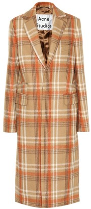 Acne Studios Checked wool-blend coat
