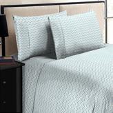 Home Dynamix Jill Morgan Fashion Printed Chevron Blue Microfiber King Sheet Set (4-Piece)
