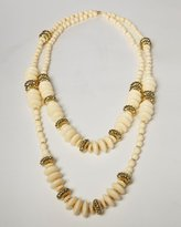 Beaded Duo Draped Necklace