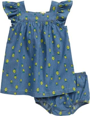 Tucker + Tate Lemon Print Chambray Dress