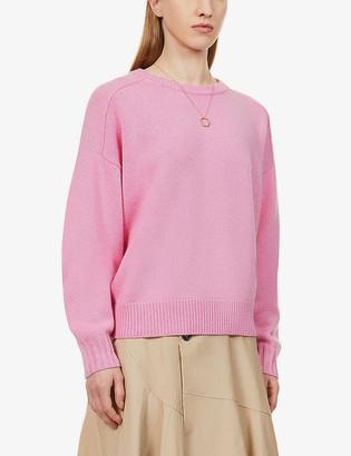 Me And Em Scoop-neck saddle-shoulder wool and cashmere-blend jumper