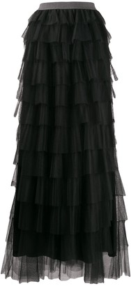 Fabiana Filippi Long Ruffled Skirt