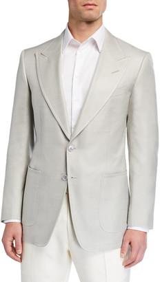 Tom Ford Men's Shelton Silk Canvas Sport Jacket