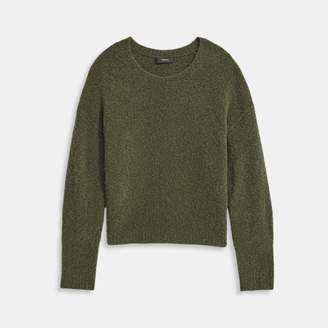 Theory Camel Boucle Shrunken Pullover