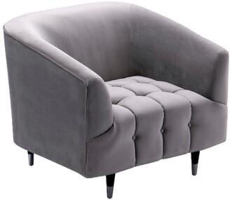 Chic Home Julia Silver Club Chair