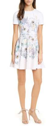 Ted Baker Haylinn Woodland Fit & Flare Dress