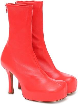 Bottega Veneta Bold leather ankle boots