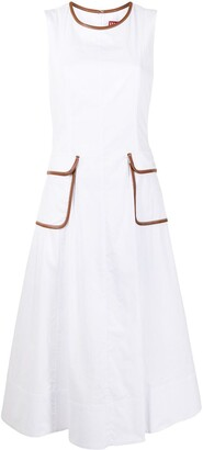 STAUD Bait contrast-trim dress