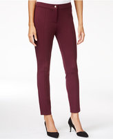 Maison Jules Seam-Detail Ponte Pants, Only at Macy's
