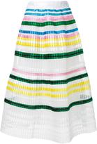 Muveil striped pleated skirt