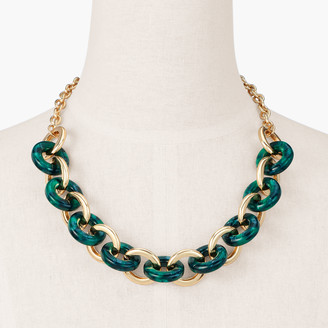 Talbots Marbled Resin Short Links Necklace