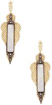 Armenta Old World 18K Gold, Rainbow Moonstone & 0.73 Total Ct. Diamond Large Pointed Mesh Earrings