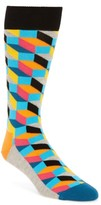 Happy Socks Men's Geometric Cotton Blend Socks