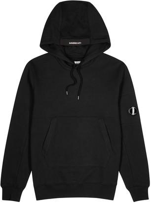 C.P. Company Black hooded cotton sweatshirt