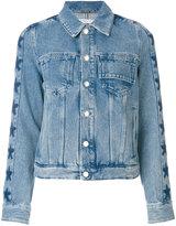 Givenchy star trim denim jacket - women - Cotton - 36