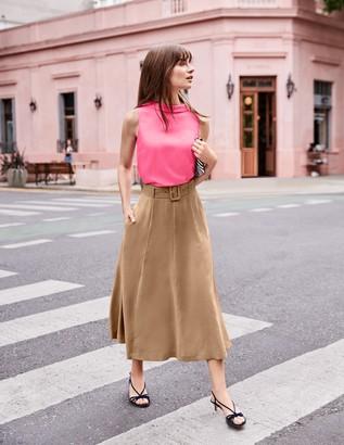 Poste Belted Midi Skirt