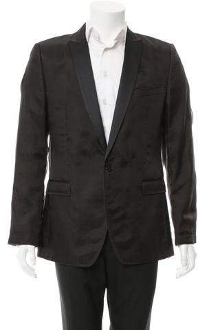 Dolce & Gabbana Silk-Blend Single Button Blazer