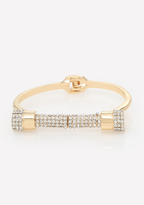 Bebe Pave Bar Hinge Bracelet