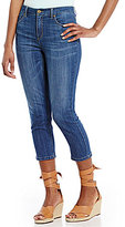Jones New York Lexington Super-Stretch Indigo Denim Capri Jeans