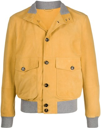 Eleventy Buttoned Bomber Jacket
