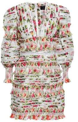Zimmermann Lace-trimmed Floral-print Linen And Silk-blend Gauze Mini Dress