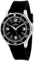 Seapro Tideway Womens Black Dial Black Silicone Strap Watch