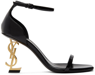 Saint Laurent Black Patent Opyum 85 Sandals