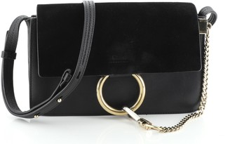 Chloé Faye Shoulder Bag Leather and Suede Small