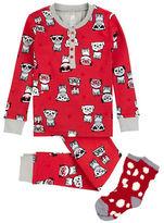 Petit Lem Pug Life Three-Piece Top, Pants and Socks Set