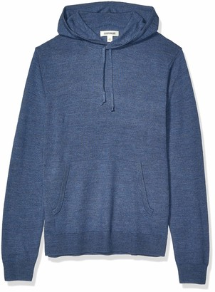 Goodthreads Merino Wool Pullover Hoodie Sweater Denim S