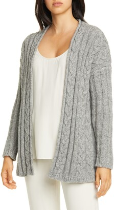 Eileen Fisher Alpaca Blend Cable Knit Cardigan