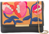 Lizzie Fortunato embroidered flowers clutch bag