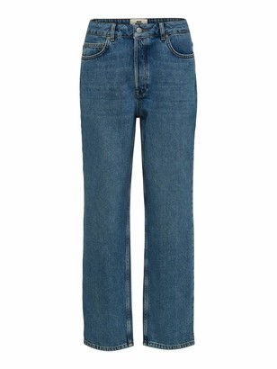 Selected Women's Slfkate Hw Straight Rail Jeans Noos