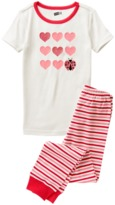 Crazy 8 Heart 2-Piece Pajama Set