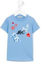 Moncler logo print T-shirt - kids - Cotton/Spandex/Elastane/Viscose/polyester - 5 yrs