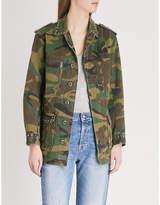 The Kooples Camouflage print stud detail jacket