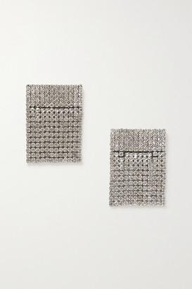 retrofete Fringed Crystal-embellished Silver-tone Shoe Clips