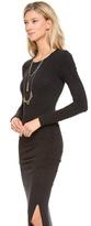 James Perse Long Sleeve Split Dress