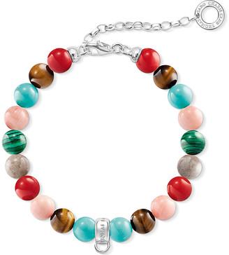 Thomas Sabo Charm Club multi-stone charm bracelet, Women's