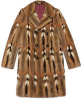 Gucci Double-breasted fur coat