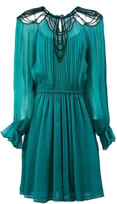 Alberta Ferretti Turquoise Cocktail Dress