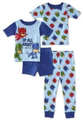 Pj Masks PJ Mask Toddler Boy Short Sleeve Snug Fit Cotton Pajamas, 4pc Set